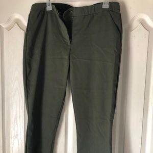 Olive Dress work Pants - Sz 13/14, Petite